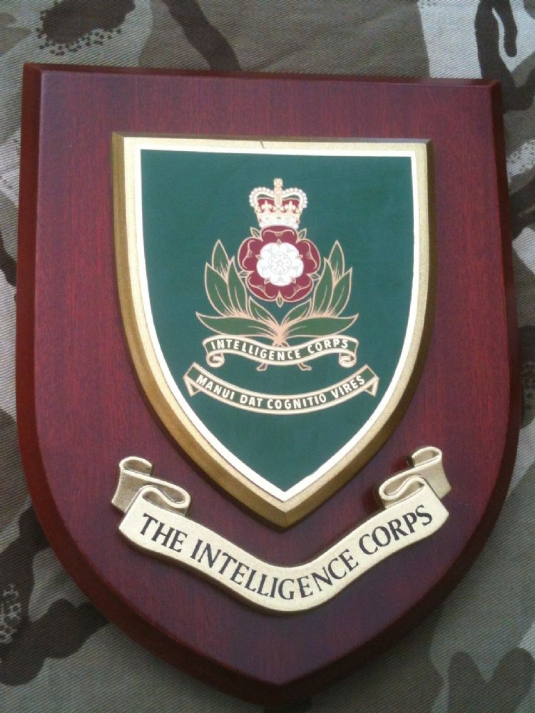 Intelligence Corps Military Wall Plaque